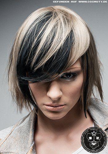 Frisuren Bilder Kinnlanger Bob Mit Starken Farbkontrasten Frisuren Haare Bob Frisur Zweifarbig Haarfarben Kurzhaarfrisuren