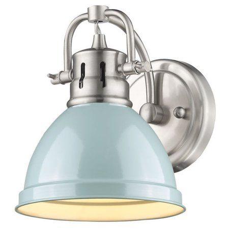 "Golden Lighting 3602-BA1 CH-CH Duncan 1-Light 9/""H Bathroom Sconce Chrome"