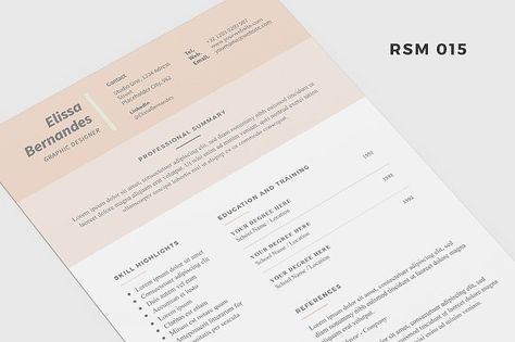 Resume Template - Professional printable resume   cv cover letter - resume covers