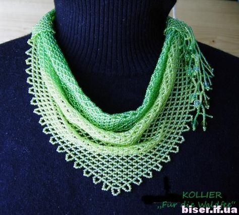 beaded scarf, how to weave a scarf of beads, beaded scarf scheme