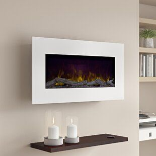 Orren Ellis Quesinberry Recessed Wall Mounted Electric Fireplace