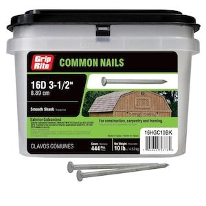 Grip Rite 3 1 2 In 8 Gauge Hot Dipped Galvanized Steel Common Nails 10 Lbs Lowes Com In 2020 Galvanized Steel Hot Dip Galvanized