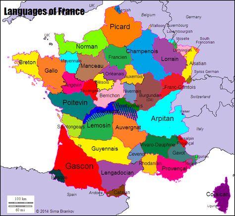 Languages Of France Mit Bildern Geografie Landkarte Karten