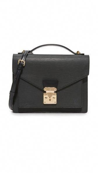 WHAT GOES AROUND COMES AROUND Louis Vuitton Black Epi Monceau (Previously  Owned).   10541b43a9471