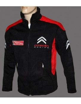 Citroen Black High Quality Fleece Jacket With embroidered logos ...