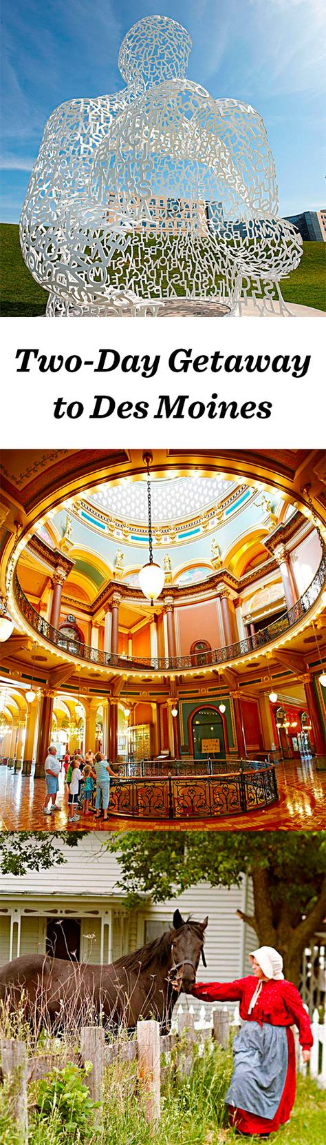 Iowa's capital city, Des Moines has evolved into a sophisticated weekend destination with reasonable prices. Parks and trails round out boutique shops and independent restaurants: http://www.midwestliving.com/travel/iowa/des-moines/two-day-getaway-to-des-moines/ #desmoines #iowa #travel