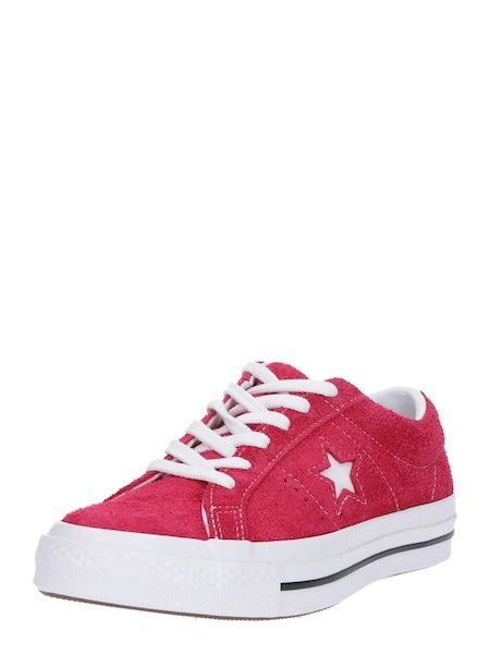 CONVERSE Sneaker 'ONE STAR OX' kirschrot weiß #schuhe