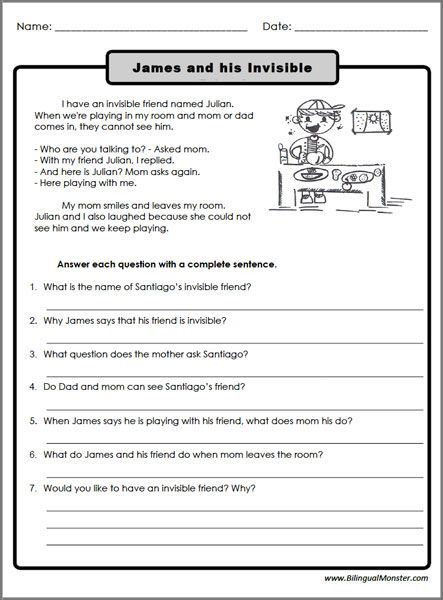 Reading Worksheets 3rd Grade Thoughts Reading Worksheets
