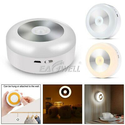 Led Motion Sensor Cordless Night Light Battery Powered Wall Lamp For Indoor Use In 2020 Wall Lamp Motion Sensor Plug In Wall Lamp