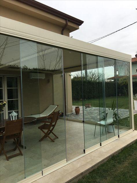 Veranda Bioclimatica Con Vetrata Panoramica Tutto Vetro