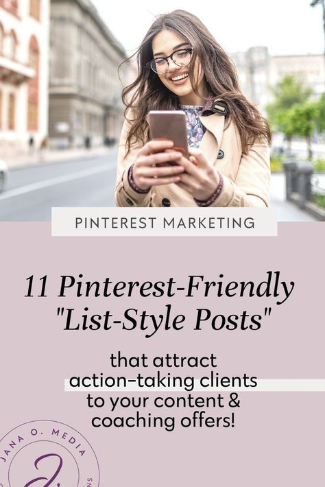 Pinterest Marketing Tip: Create & Pin Listicles to Attract Action-takers!