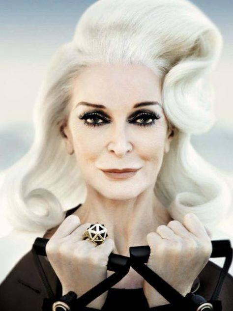Carmen Dell'Orefice, AMAZING at 82 years old. Vogue Italia, June 2013.