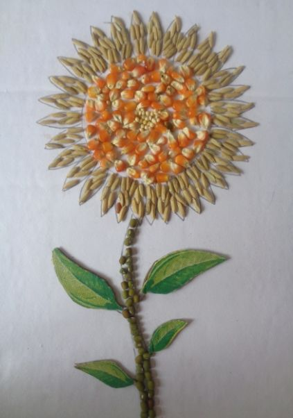 Gambar Kolase Bunga Matahari Dari Kertas Origami Kolase Bunga