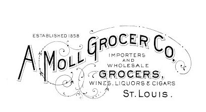 Vintage Typography Advert  GROCER ST LOUIS shabby chic transfer//sticker