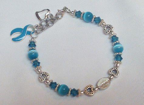 """Teal awareness """"Survivor"""" bracelet!!!"""