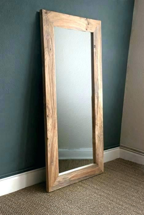 Wall Mirrors Framed Full Length Mirror Thin Gold Frame Throughout Wood Prepare 3 Wall Mirror Diy Framed Mirror Wall Wooden Mirror