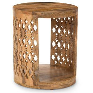 Drum Side Tables Hayneedle Wood End Accent Table