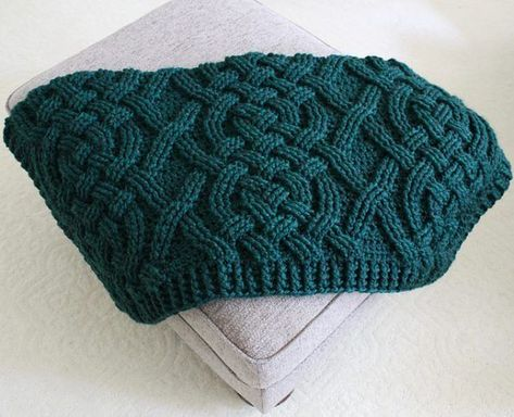 Cloverhill Cable Blanket Free Crochet Pattern | Knitting Bordado