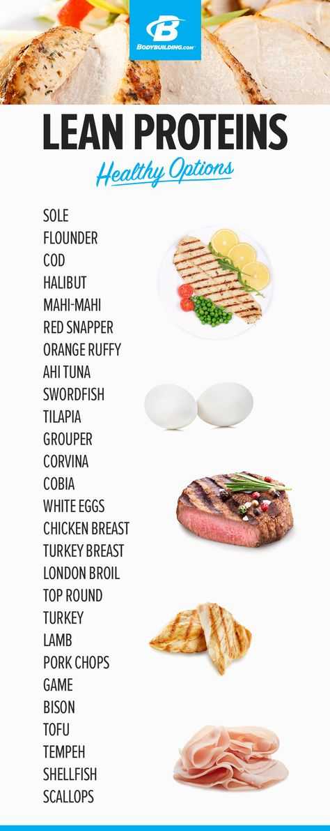 LEAN PROTEIN - HEALTHY OPTIONS! Every food item you need for a successful transformation.