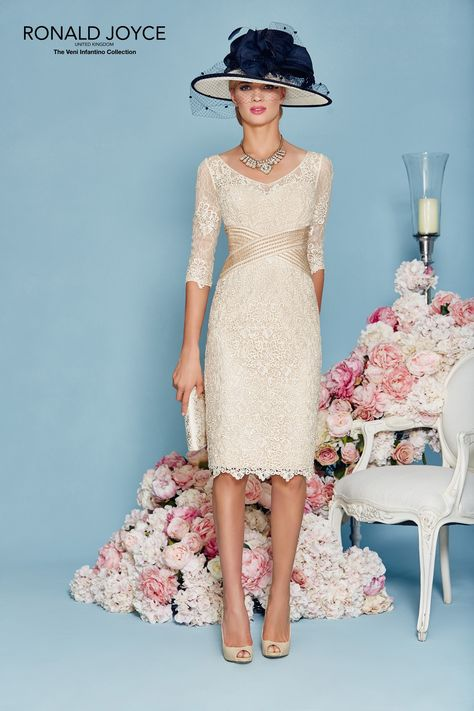 Modern Mother of the Bride Lace Dresses Beading Half Sleeve Jacket ...
