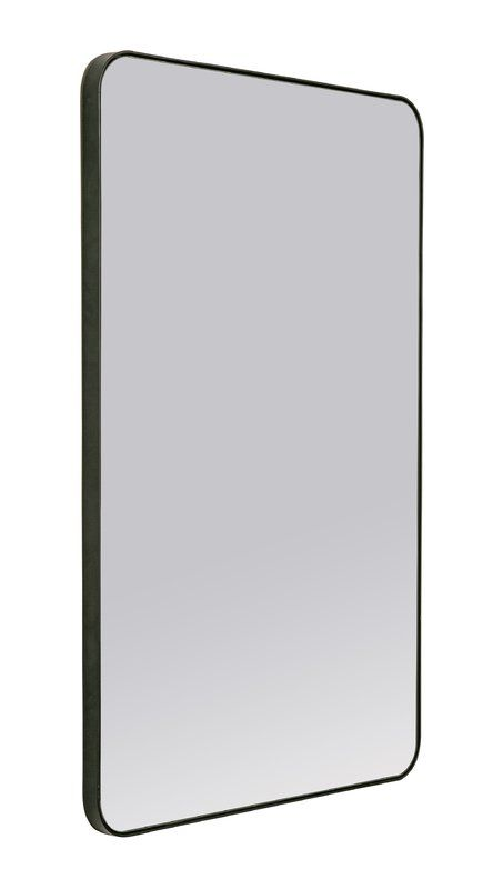 Leverett Accent Wall Mirror 24 Wx 36 H Matte Black 236 99 Trade Black Bathroom Mirrors Metal Mirror Black Bathroom
