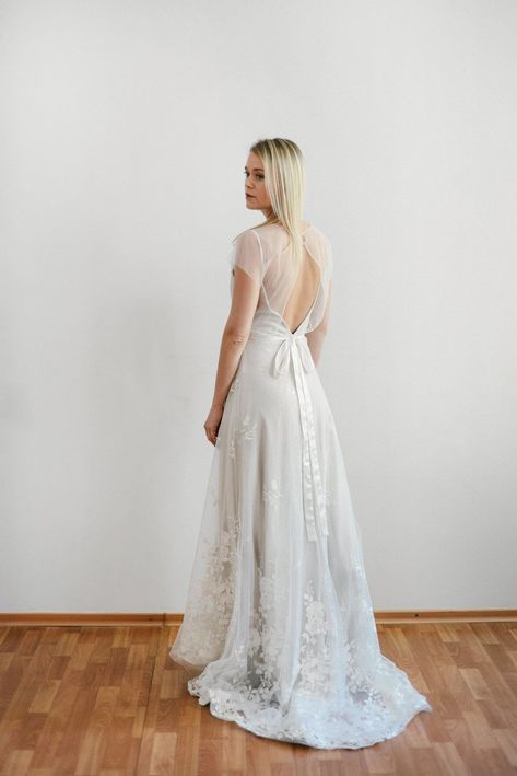 Open Back Simple Bridal Coverup