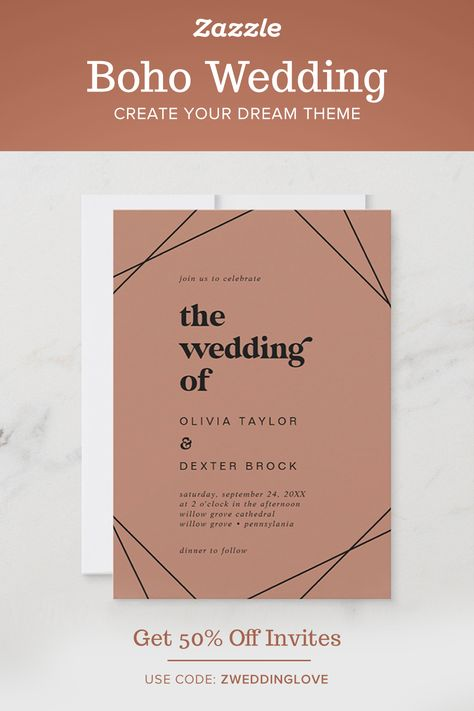 Boho Wedding - Zazzle