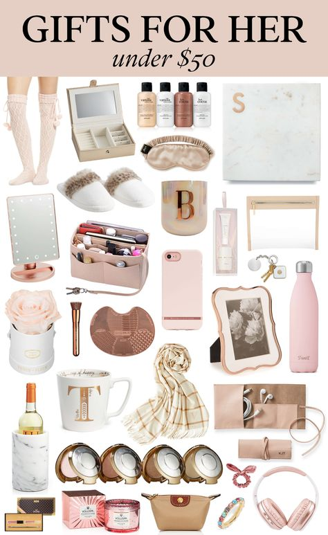 Gifts for Her under $50 | Affordable Christmas and Holidays Ideas | Gift Ideas For Your Mom, Girlfriend, Wife, Sister, or Daughter
