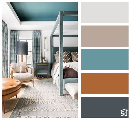 Color Palette Interior Ideas Balance Bedroom Design Schemes
