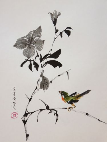 Aquarelle Abby Xieyi Sumie Peinture Asiatique Peinture Chinois
