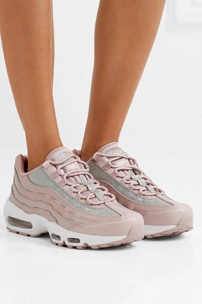 Nike air max 95 glittered leather and suede sneakers. #nike