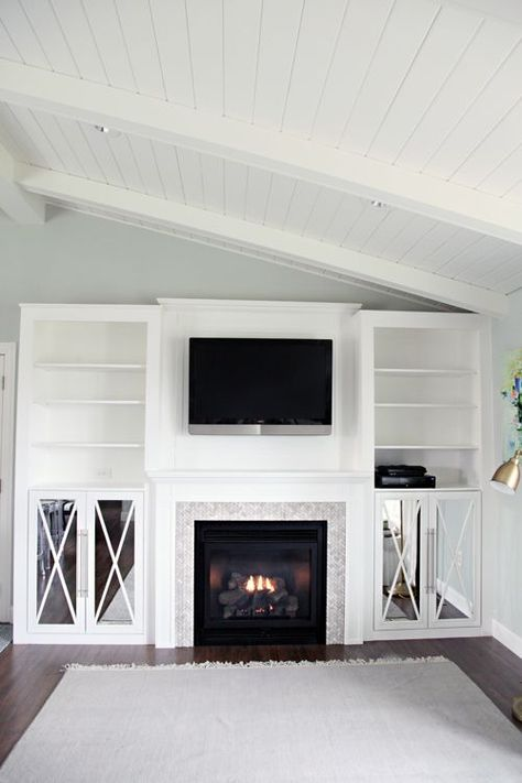DIY Fireplace Built-In Tutorial (IHeart Organizing)