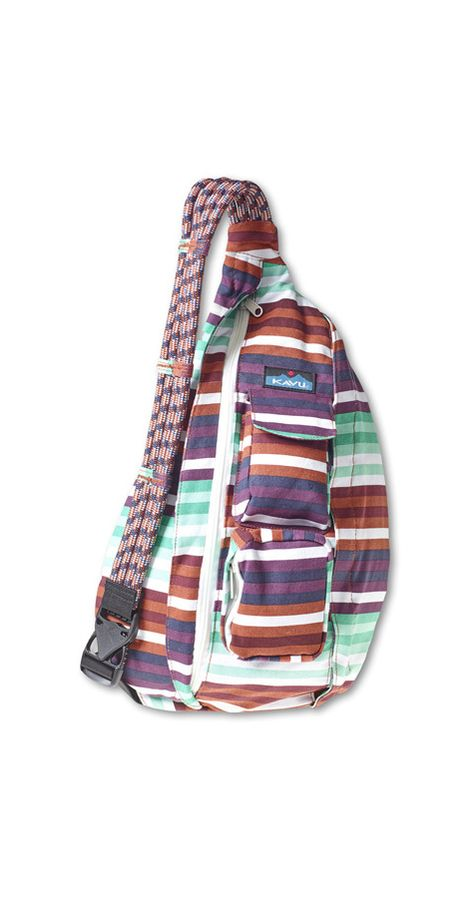 Kavu Rope Bag – Earth Stripe   CrossRoads Online