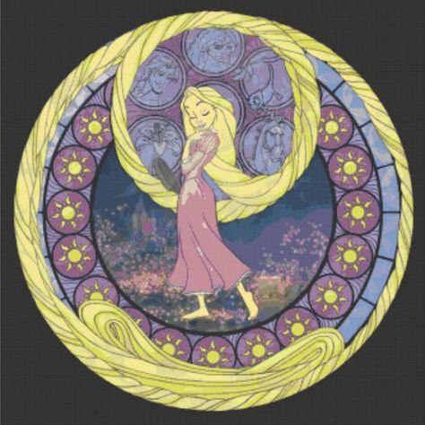Cross Stitch Pattern for Rapunzel Kingdom Hearts Princess