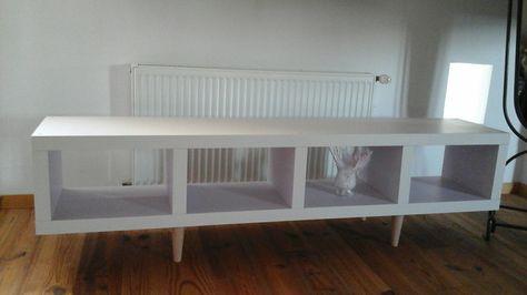 Meuble Colonne Ikea Relooker Peinture Et Pose De Pieds Pour