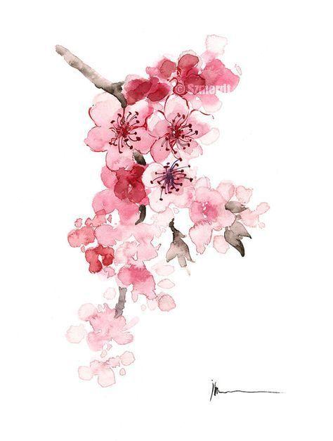 Cherry Branch Home Decor Cherry Tree Pink Newborn Girl Nursery
