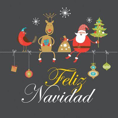 """Personajes animados navideños en una bonita postal con mensaje de """"Feliz Navidad"""" para compartir   Banco de Imágenes Gratis .COM (shared via SlingPic)"""