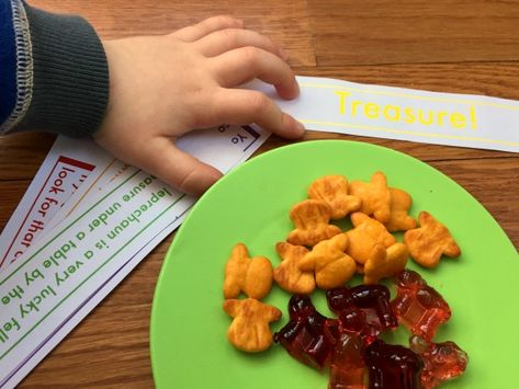 Go on a Rainbow Treasure hunt! With free printable clues and yummy snack! (ad)