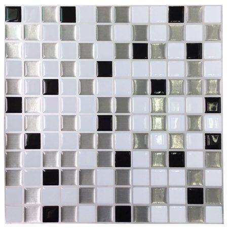 Art3d Kitchen Backsplashes Stiker Peel And Stick Vinyl Wall Covering 12 X 12 Square 6 Tiles Walmart Com Vinyl Wall Covering Peel And Stick Vinyl Vinyl Wall