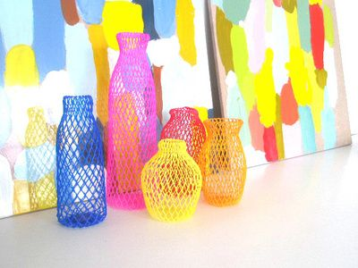 brightly-colored woven baskets by Emma Davis, via InsideOut #color #basket