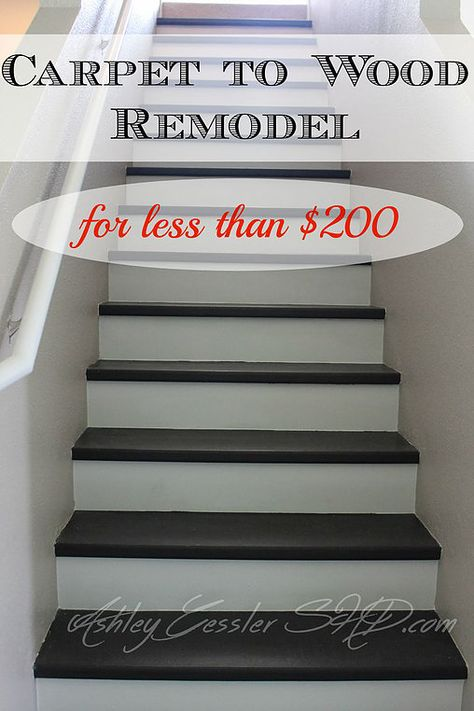 Best How To Convert Your Carpeted Stairs To Wood For Under 200 400 x 300