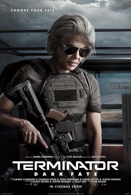 Pósters De Terminator Dark Fate Que Muestran A Personajes Antiguos Y Nuevos Terminator Fate Movie Terminator Movies