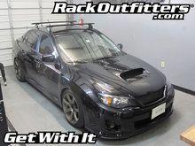 Thule Rapid Podium Black Aeroblade Roof Rack For 2008 To 2014 Subaru Wrx Subaru Wrx Mazda Mazda3 Roof Rack