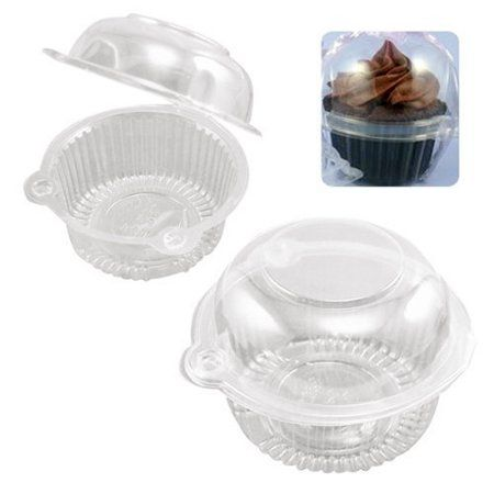100pcs plastic cupcake boxes plastic cupcake case muffin pods dome cups cake boxes gifts container walmart com in 2020 cupcake boxes cupcake packaging cupcake cakes dome cups cake boxes gifts container