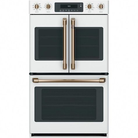Shop Cafe 29 8 Built In Double Electric Convection Wall Oven Matte White At Best Buy Find Low Everyday Prices And Buy Online Fo Kitchen Appliances In 2019 French Door Wall Oven