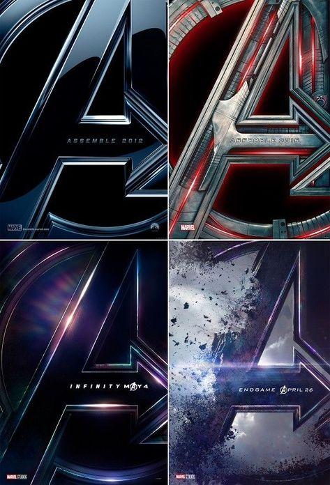 "Avengers 1 2 3 4 Teaser Movie Poster 24x36"" 27x40"" 32x48"" Marvel Comics Print"