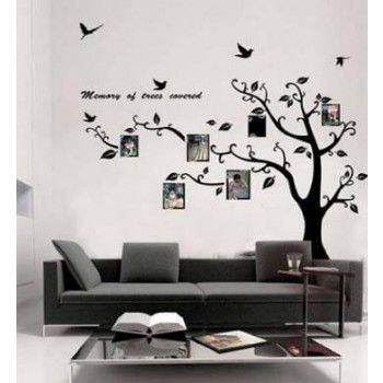 Photo picture frame tree wall decal vine branch removable wall sticker amazon hot selling