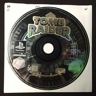 Tomb Raider Featuring Lara Croft Sony Playstation 1 1996 Ps1