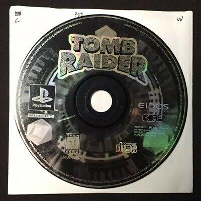 Tomb Raider Featuring Lara Croft Sony Playstation 1 1996 Ps1