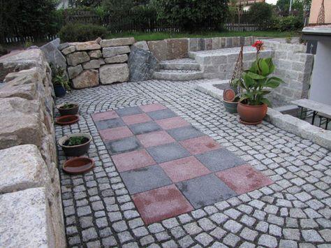 Pflasterplatten Granit Pflaster Garten grau bodenbeläge - steingarten mit granit